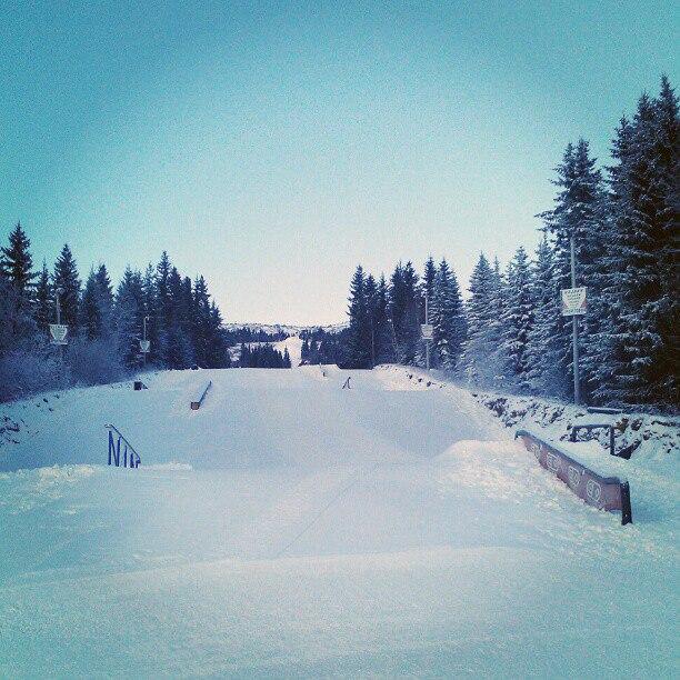 PARK I DESEMBER: Vassfjellet hadde en railpark klar da anlegget åpnet i desember. Foto: Kristian Hummelsund
