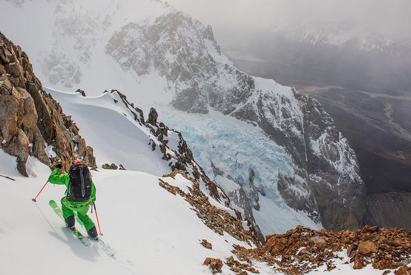 UTSIKT: Pedros Blancas isbreen fra Cerro Madsen. Foto: Kari Medig