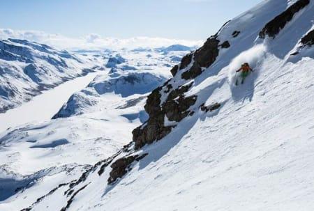 PÅ TUR: Dette kan bli deg hvis du vinner konkurransen! Bildet er fra fjorårets tur langs Norges svar på legendariske Haute Route i Alpene. Foto: Christian Nerdrum