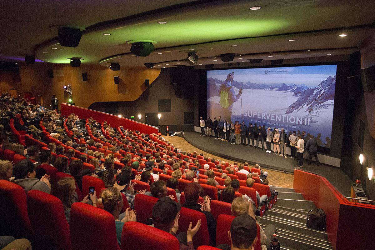 ENDELIG: Etter endeløse timer med filming og klipping kunne endelig Field Productions vise frem Supervention 2 i Trondheim. Foto: Anders Holtet
