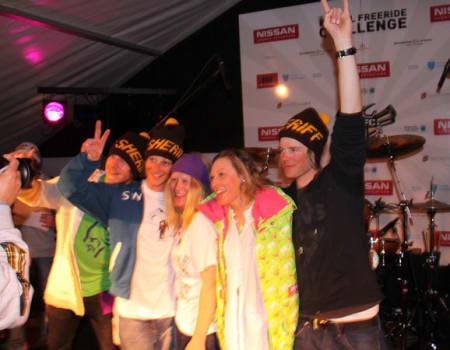 Vinnerne av norgescupen sammenlagt: Underland, Vole, Hagen, Ericsson og Nestvold.
