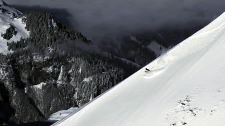 PÅ TUR: Jacob Wester fant tidenes novemberføre i Alpene i år.