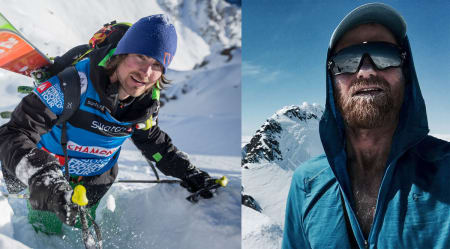 KLARE TIL DYST: Fotograf Johan Wildhagen (til høyre) og frikjører Dennis Risvoll er det femte og siste laget som deltar i Bergsfjord Lodge Invitational.