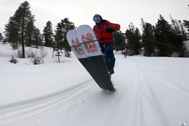 Her er Sebastian Schjerve tilbake på ski etter lårhalsbruddet