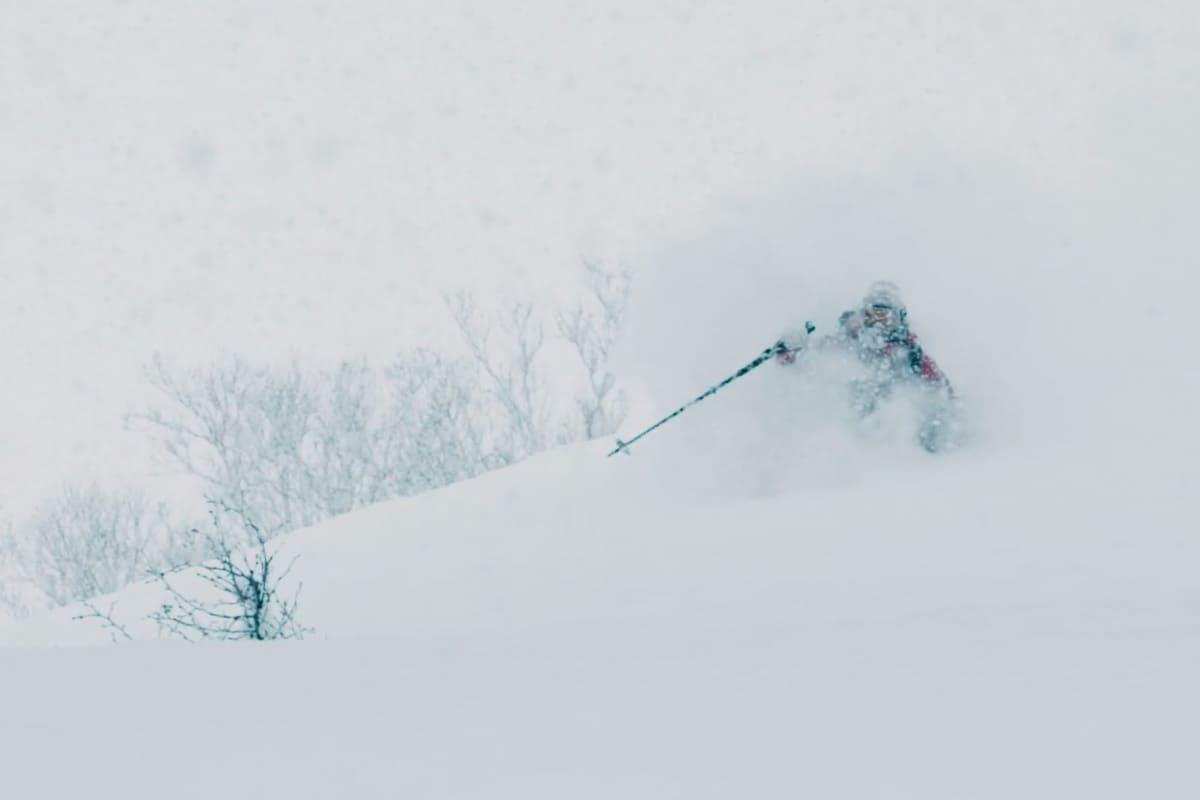 PUDDER: Det meste i Malou Peterssons «Just Powder» handler om nettop det - pudder. Foto: Skjermdump