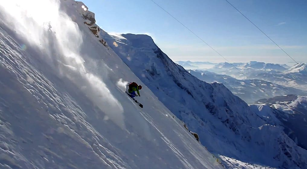 CHAMO: Det er vel ingen overraskelse at Andreas Fransson driver på mye i Chamonix.
