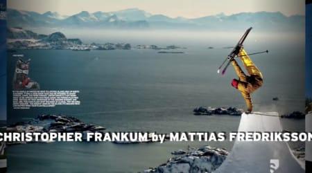 REKLAME: Mattias Fredrikssons bilde av Norges landslagstrener i slopestyle ble godt nok for en svær Salomon-reklame.