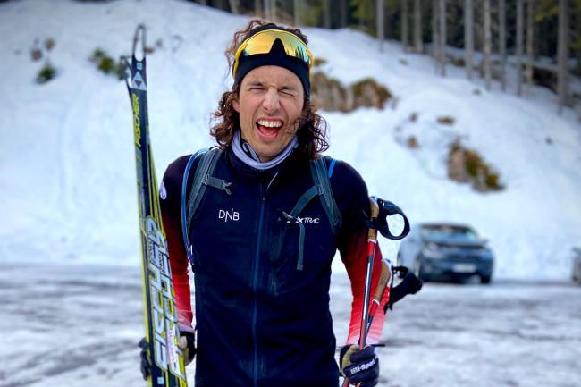 Frankum gikk 10 mil i Nordmarka: – Fortsatt steder med en meter snødybde