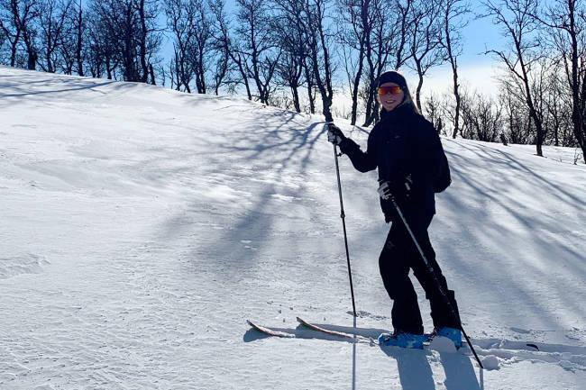 Johanne Killi har gått åtte toppturer i drømmeforhold de siste ukene