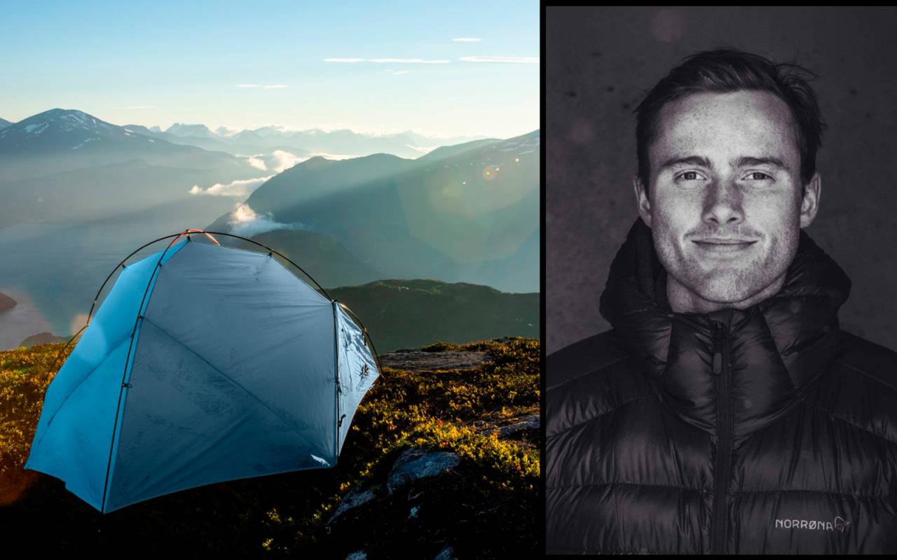 UTEVANT: Nikolai Schirmer har vært en vinternatt før, og deler sine beste råd til telting. Bilder: Norrøna
