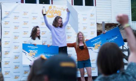 SEIER: Lisen avsluttet sesongen med seier i Freeline Jam på Strynefestivalen. Foto: Henrik Ulleland