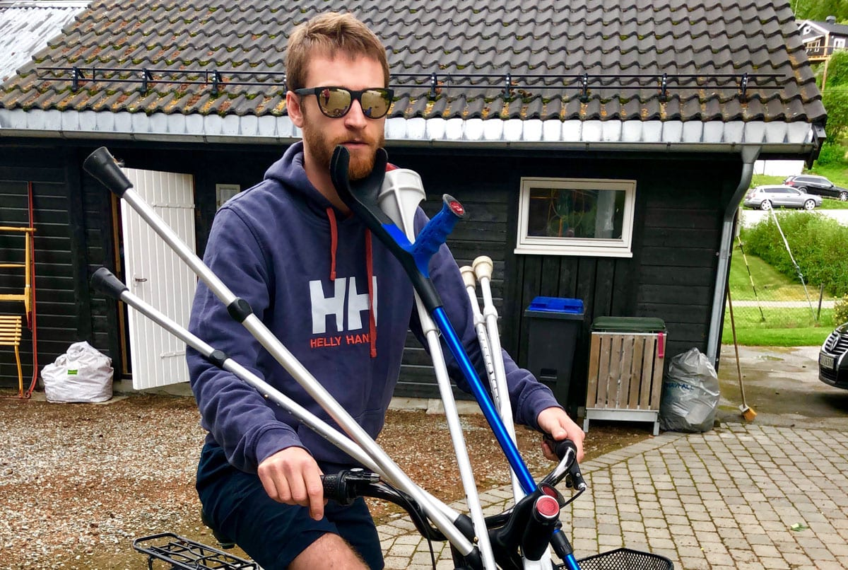 SOMME RPÅ KRYKKER: Henrik Gangsø tryna i desember og fikk fire skidager sist vinter. Denne sommeren brukes på sykling og rehab i en slags kombinasjon.