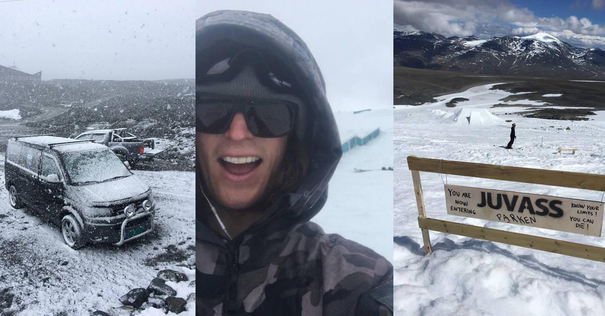 EVENS SOMMER: …foregikk på Juvass – eller Galdhøpiggen sommerskisenter som det egentlig heter – og der snør det stadig vekk i juli.