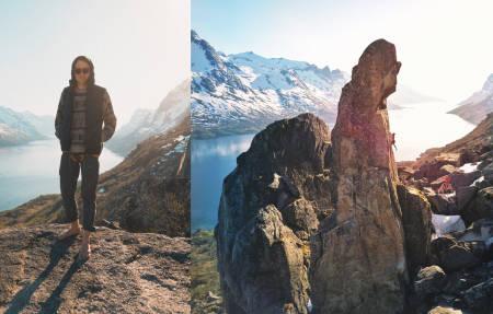 TIL FJELLS: Nikolai Schirmer har begynt å klatre. Så nå er han til fjells absolutt hele tida. Nesten. Ja, og så er han singel.
