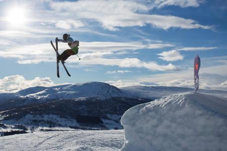 Ulrik Hopp da han vant Norgescup-renn i Oppdal. Foto: Tore Meirik