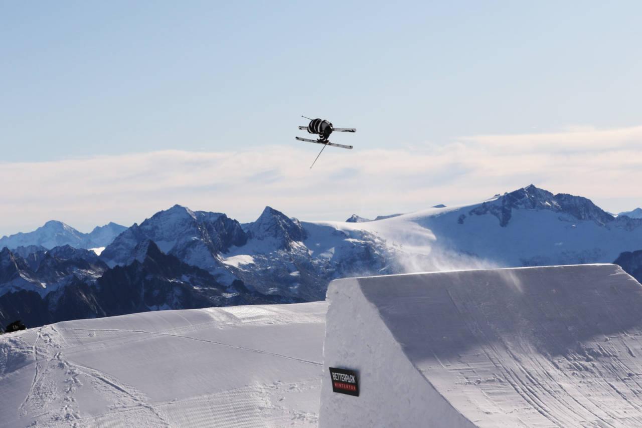 Skitalent: Tevje Skaug i Hintertux like før han ble skadet.  Bilde: PK Hunder