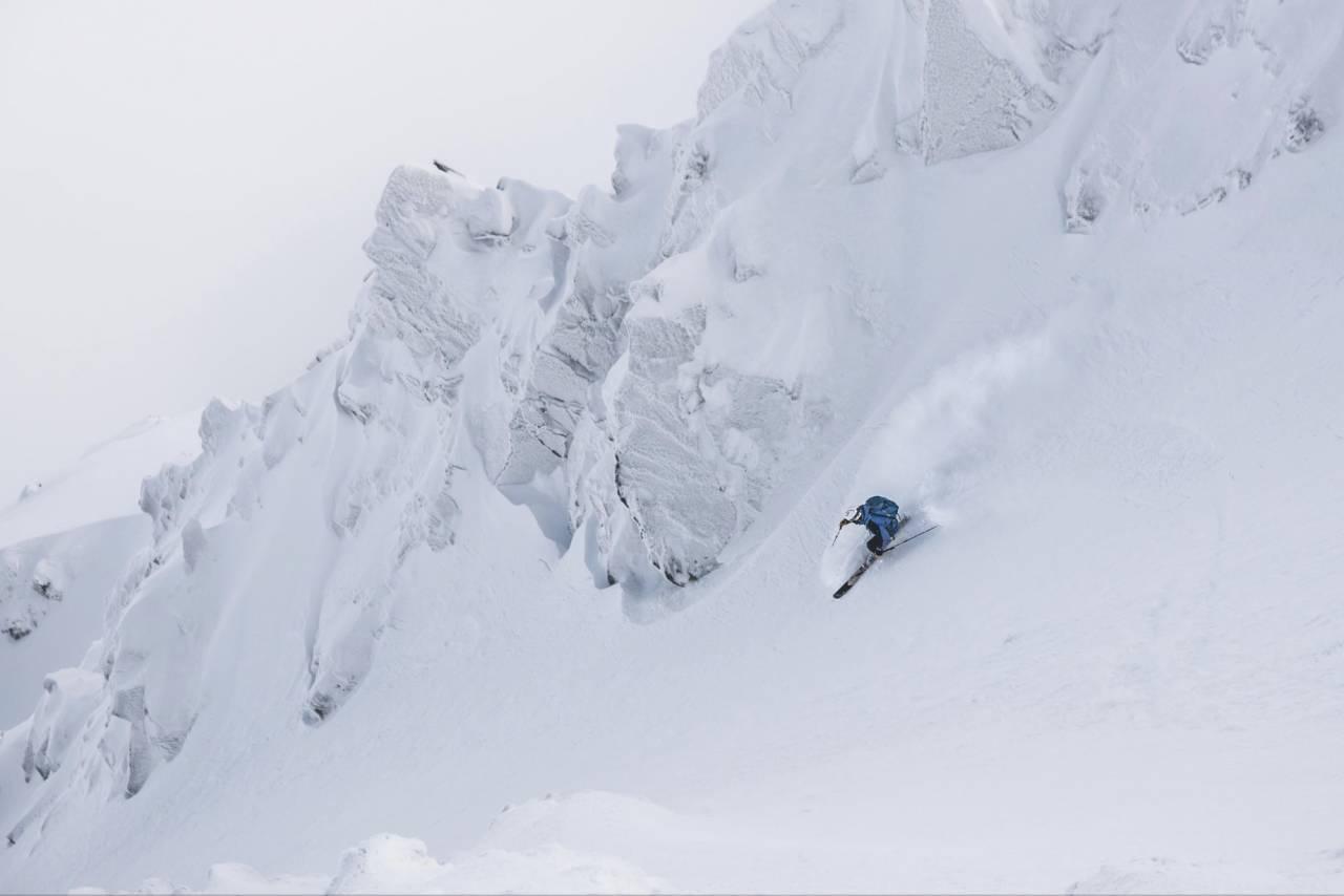 JA TIL JASNA: Henning Skjetne på vei ned gjennom en av de mange renneformasjonene fra toppstasjonen i Jasna, Slovakias største skianlegg. Alle foto: Bård Basberg