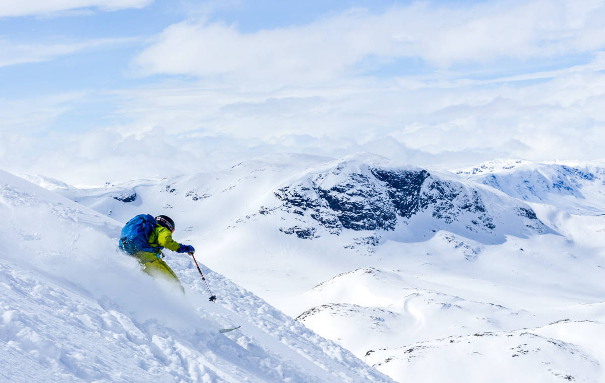 Bitihorn frikjøring topptur randonee ski alpint skisenter beitostølen