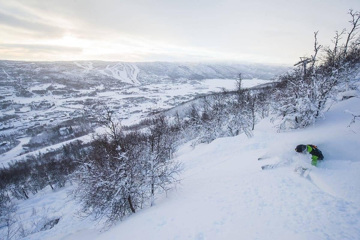 Geilo ski kjøring freeride guide fri flyt snowboard alpint