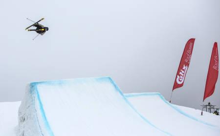 AVGJORT I HELGA:  Både NM og norgescupen i big air og slopestyle ble avgjort på Hafjell i helgen. Felix Usterud tok hjem NM-seieren i slopestyle. Foto: Andreas Løve Storm Fausko