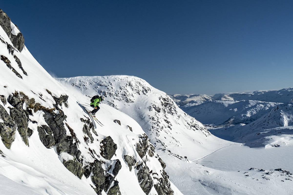 Harpefossen skisenter freeride offpiste alpint ski snowboard anlegg