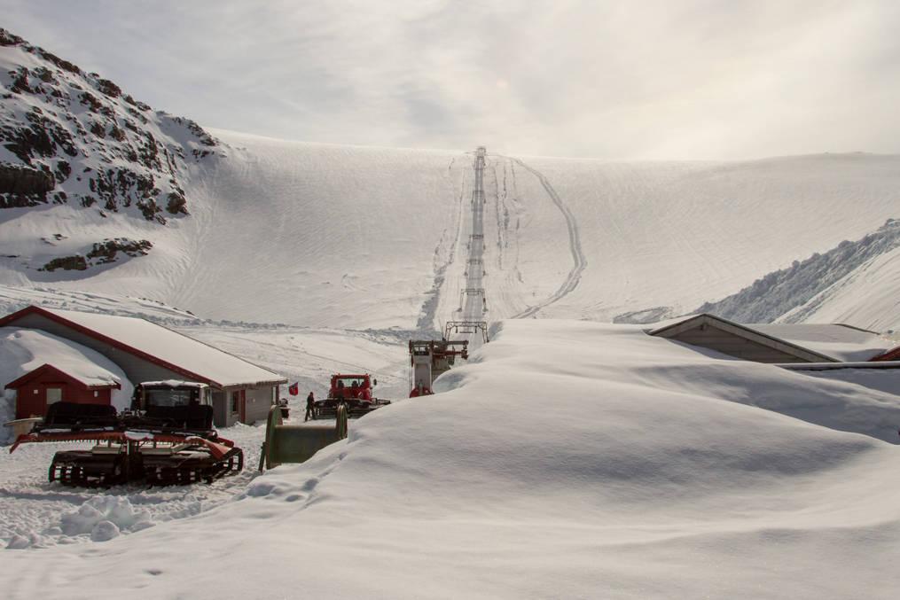SESONGÅPNER: Folgefonna åpner skiheisen allerede 1. mai. Foto: Jan Petter Svendal