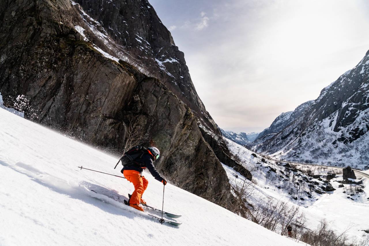 Sirdal topptur randonee alpin ski fri flyt guide topptur randonee Wall street