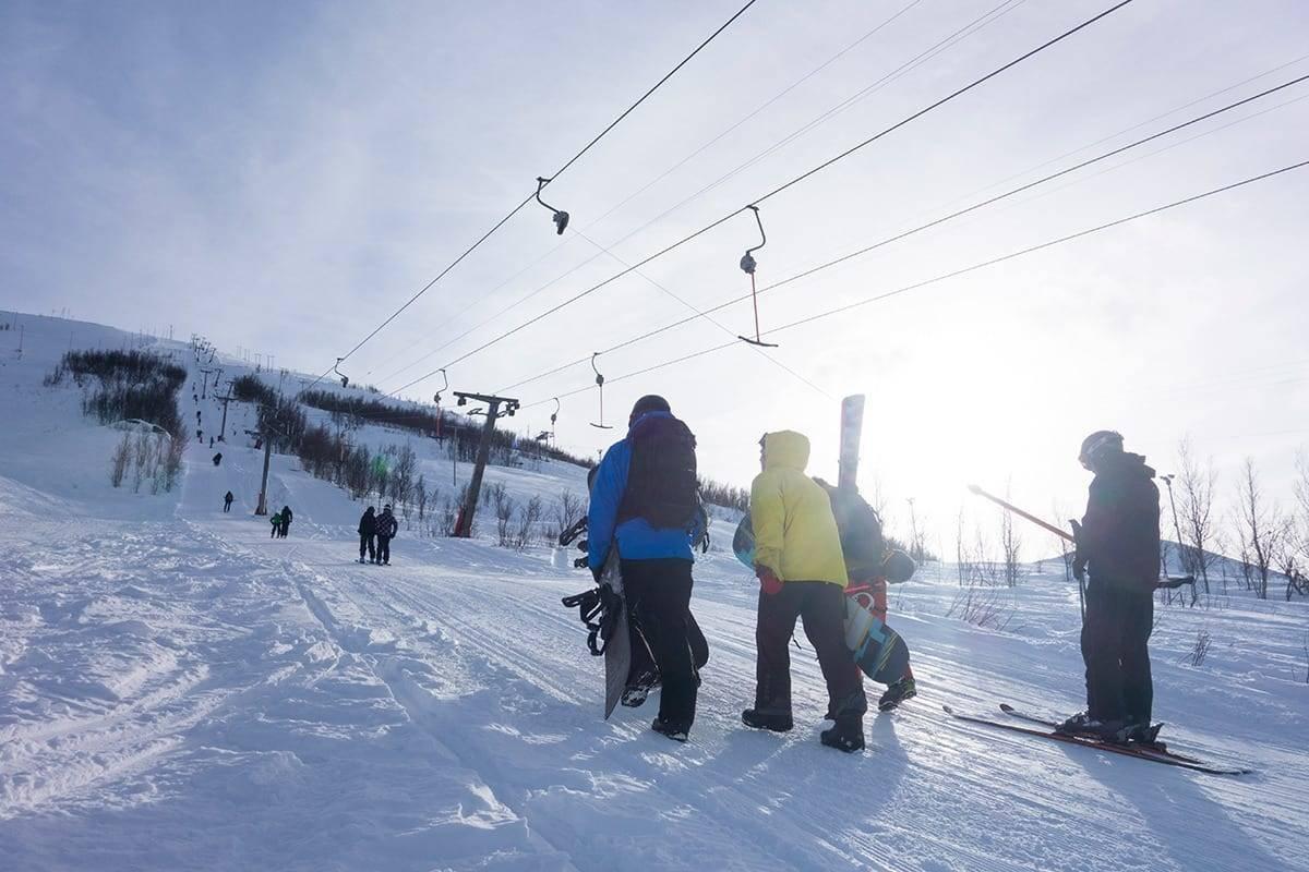 Kroken alpinpark Tromsø guide fri flyt
