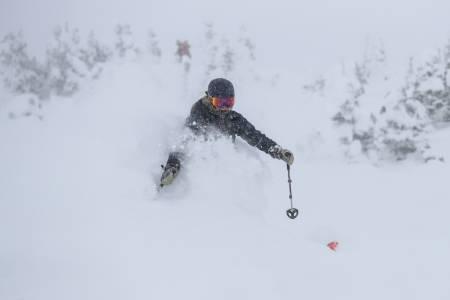 PUDDER: Alta i Utah har levert noen vanvittige dager for Lisen Strøm. Foto: Libby Ellis
