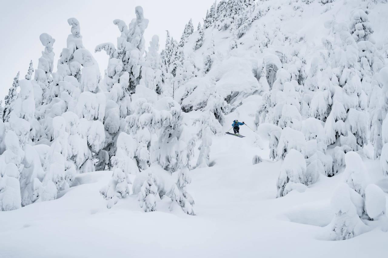 VINTERLAND: Denne uka kom det to meter snø, vi fikk nyte det i fred mens resten av Sea To Sky's filmteam var i Japan. Foto: Bård Basberg