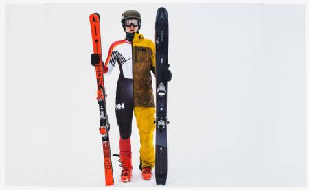 Mange frikjørere kommer fra alpin bakgrunn. Øystein er en selvlært frikjører, men nå ønsker han å kjøre alpint. Bilde: Christian Nerdrum