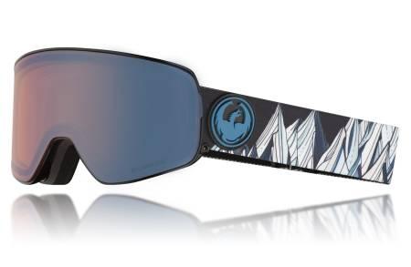 GOGGLES: Flere og flere merker går over til lure løsninger med magneter eller lignende for lettest mulig bytte av glass på skibrilene sine. Slik som denne fra Dragon med to enkle brytere på hver side av brillen.