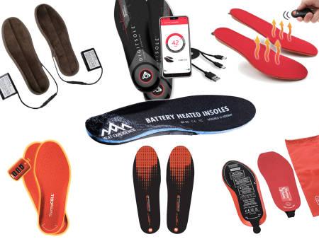 oppvarmede såler batteri ladbar usb skistøvler
