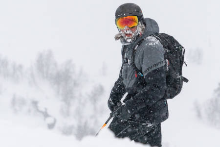Å unngå dugg på brillene i snøvær er ingen enkel oppgave. Bilde: Christian Nerdrum