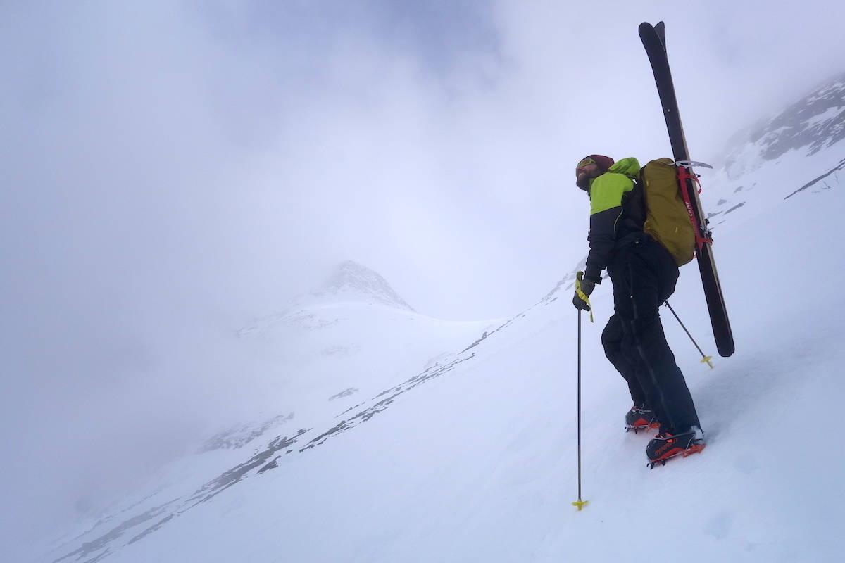 ski oppover stegjern Endre Hals skiklær