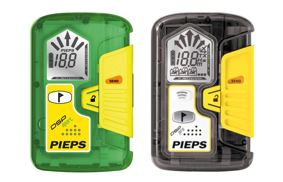 I TRØBBEL: Disse sender/ mottakerne fra Pieps er i hardt vær etter hendelser hvor de har skiftet fra send til søk uten at det var meningen. Til venstre er den utgåtte modellen Pieps DSP Sport. Til høyre er DSP Pro.