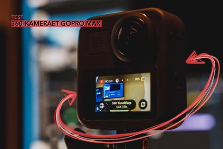 GoPro Max har kameraobjektiv på begge sider og fanger alt som skjer rundt deg. Bilde: Christian Nerdrum