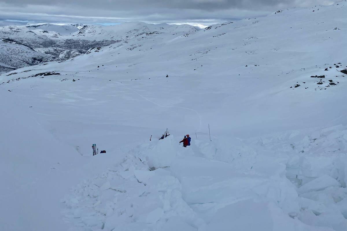 Snøskred Systerskardfjellet