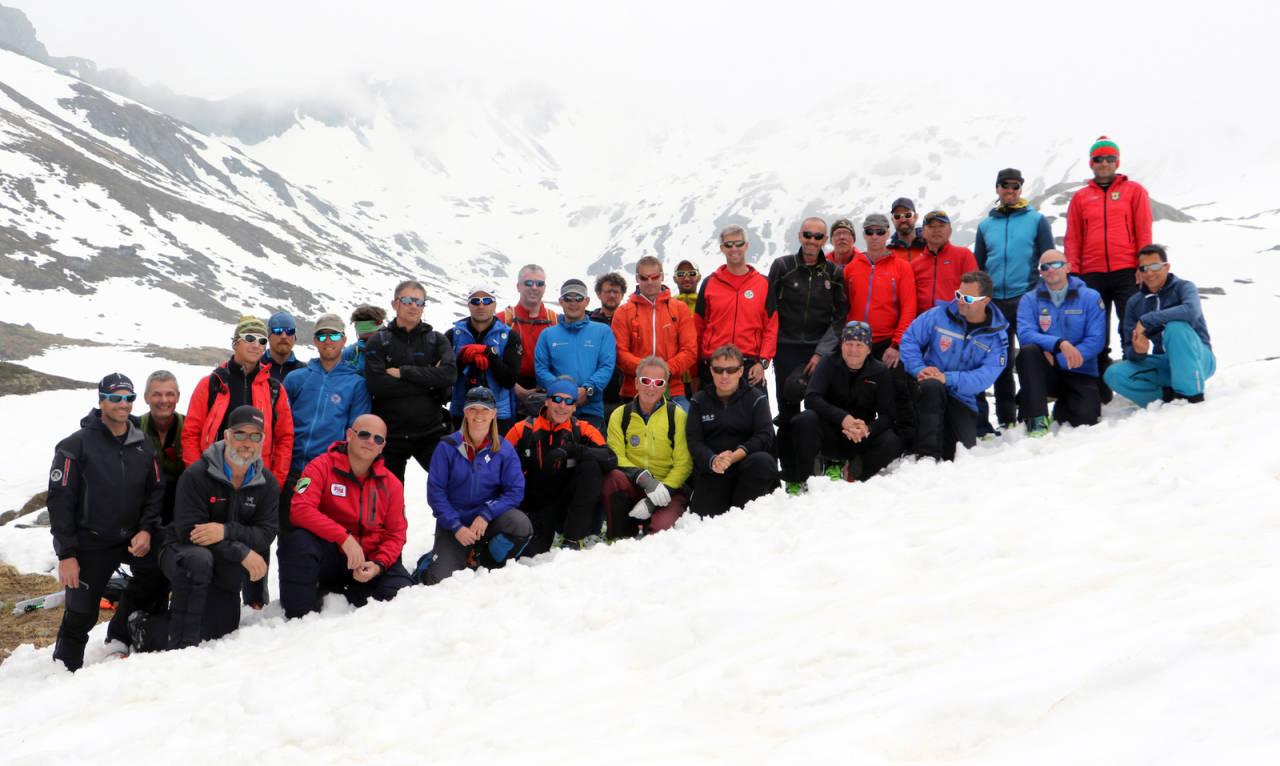 ARBEIDSGRUPPEN FOR REDNING I SKRED: Mountainsafety.info har som mål å finne de beste praksisene for sikker ferdsel i fjellet. Foto: MSI