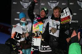 PÅ PALLEN: Andreas kunne feire sesongens første konkurranse med tredjeplass. Foto: NSBF