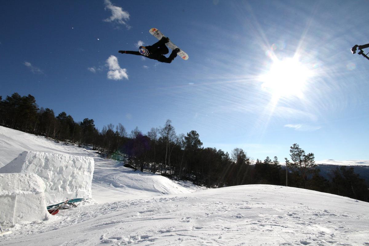 STJERNE: Marcus Kleveland viste triksbaggen på Dombås. Foto: Audun Holmøy Røhrt