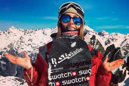 OMKOM: Snowboardkjører Estelle Balet omkom tirsdag. Foto: FWT