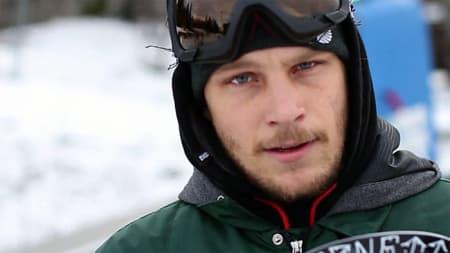 LARSEN: Danny Larsen i Oslo Vinterpark, Tryvann, 29. desember: lite snø, STOR kjøreglede!