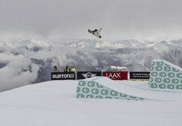 LIVE NÅ: Guttas slopestylefinale i Laax er i gang nå. Foto: Lammehirt/TTR