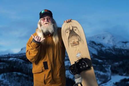 Tommen var en yndling både for skikjørere, brettfolk og fotografer. Foto: Thomas T. Kleiven