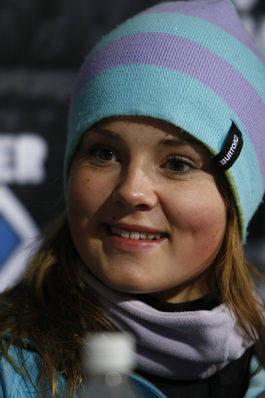NEST BEST: Helene Olafsen fikk sølv under dagens boardercross. Foto: HPHval