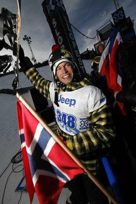 GULL: Andreas Wiig tok gull i dagens slopestylefinale. Foto: HP Hval