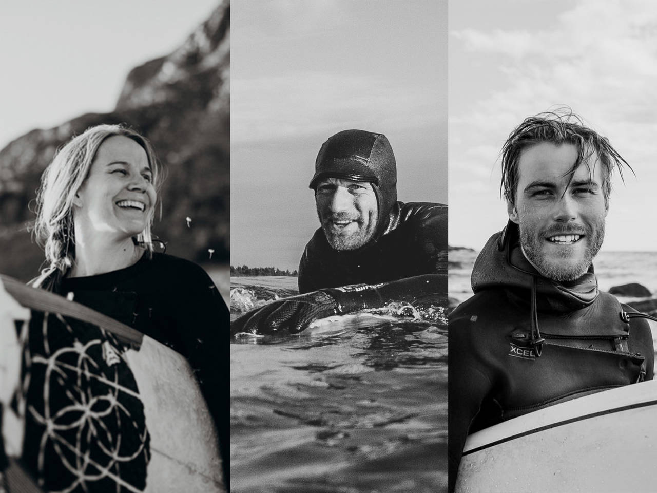 Kathrine Røed Ståle Sandbech Jonas Paulsen Saltstein Surf
