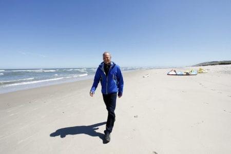 Olav Bleivik fra Larvik vil bruke ressurser i havet for å gjøre Larvik mer attraktiv.  Foto: Caroline Omlid
