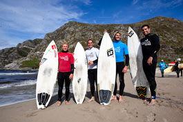 FINALISTER: Tim Matley, Kiale Naluai, Shannon Linley og Seamus Fox. Bilde: Christian Nerdrum